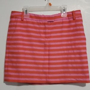 J.Crew Pink Striped with Pockets Skirt Sz 4